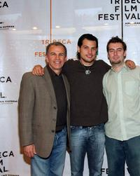 Tony Plana, Roberto Urbina and Director Jose Antonio Negret at the press conference of