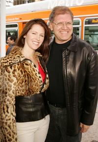 Leslie Zemeckis and her husband Director Robert Zemeckis at the premiere of