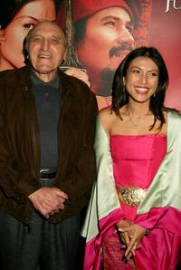 Len Lesser and Tiara Jacqueline at the screening of