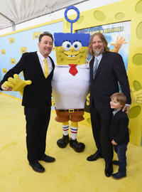 Tom Kenny and Paul Tibbitt at the New York World premiere of