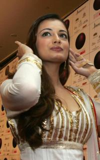 Diya Mirza at the opening of the Middle East International Film Festival (MEIFF).