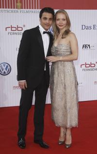 Kostja Ullmann and Janine Reinhardt at the German Film Awards.