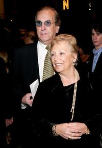 Danny Aiello and his wife Sandy Cohen at the play opening night of