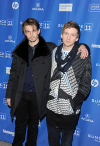 Sam Levinson and composer Olafur Arnands at the premiere of