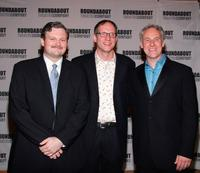 John Ellison Conlee, Mark Brokaw and John Dossett at the opening night of