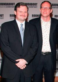 John Ellison Conlee and director Mark Brokaw at the opening night of