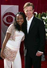 Keke Palmer and William H. Macy at the 57th Annual Emmy Awards.