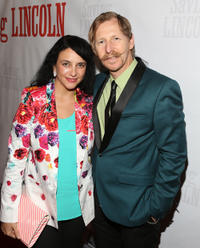 Lew Temple and Guest at the world premiere of