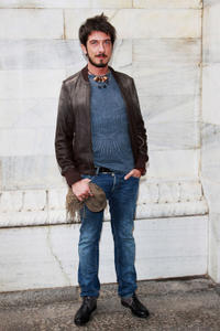 Paolo Ruffini at the Roberto Cavalli Spring/Summer 2013 fashion show as part of Milan Womenswear Fashion Week.