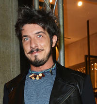 Paolo Ruffini at the opening party of the new Just Cavalli boutique in Italy.