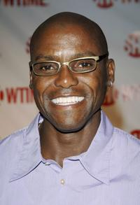 Carl Lewis at the premiere of