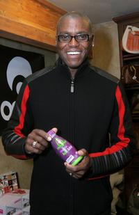 Carl Lewis at the Gibson Guitar and Entertainment Tonight celebrity hospitality lodge during the 2007 Sundance Film Festival.