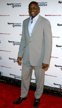 Carl Lewis at the Sports Museum of America opening night gala.