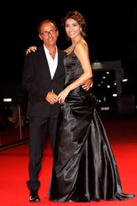 Director Pappi Corsicato and Caterina Murino at the premiere of