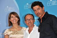 Caterina Murino, director Pappi Corsicato and Alessandro Gassman at the photocall of