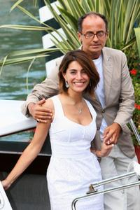Caterina Murino and director Pappi Corsicato at the 65th Venice Film Festival.