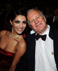 Caterina Murino and director John Irvin at the premiere of