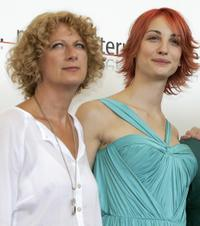 Angela Finocchiaro and Francesca Inaudiat the photocall of