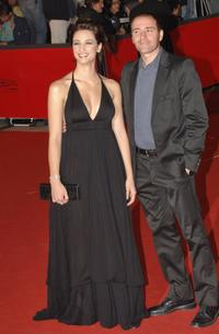 Francesca Inaudi and Valerio Mastrandrea at the premiere of