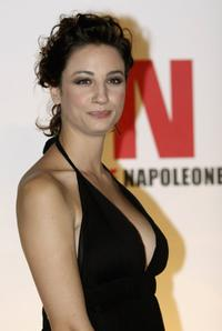 Francesca Inaudi at the party to promote