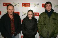 Robert Knott, Tara Gallagher and Michael Mosley at the Cinetic Media party during the 2005 Sundance Film Festival.