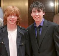 Rupert Grint and Matthew Lewis at the premiere of