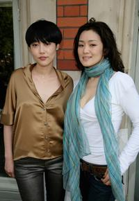 Rinko Kikuchi and Gong Li at the promotion of