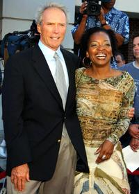 Clint Eastwood and Tina Lifford at the premiere of