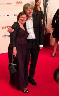 Ursula Werner and Andreas Dresden at the European Film Awards.