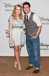 Jennifer Finnigan and Josh Cooke at the Disney ABC Television Group's Summer TCA Party in California.