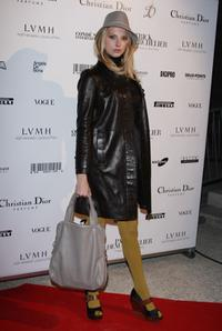 Frederique Bel at the Patrick Demarchelier's exhibition Party.