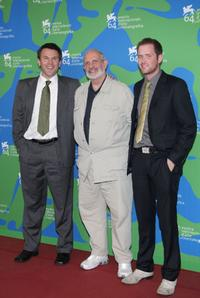 Rob Devaney, Brian De Palma and Patrick Carroll at the 64th Venice Film Festival.