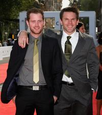 Patrick Carroll and Rob Devaney at the premiere of