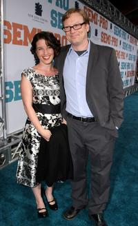 Andrew Daly and Guest at the premiere of