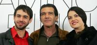 Alberto Amarilla, Antonio Banderas and Maria Ruiz at the photocall of