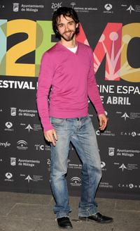 Alberto Amarilla at the 12th Malaga Film Festival presentation party.