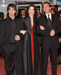Alberto Amarilla, Maria Ruiz and Antonio Banderas at the Goya Cinema Awards 2006.