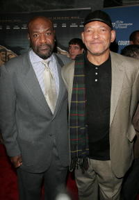 Delroy Lindo and Delbert Tibbs at the premiere of