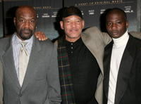 Delroy Lindo, Delbert Tibbs and David Brown at the premiere of