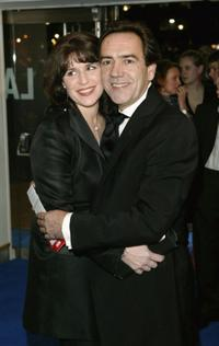 Robert Lindsay and Guest at the CTBF Royal Film Performance 2003 of