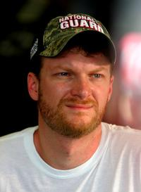 Dale Earnhardt Jr. at the NASCAR Sprint Cup Series Coke Zero 400.