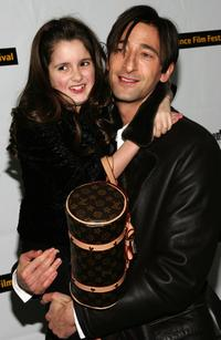 Laura Marano and Adrien Brody at the premiere of