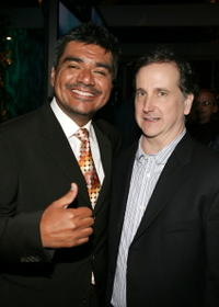 George Lopez and Mark Linn-Baker at the AOL and Warner Bros. Launch of In2TV.