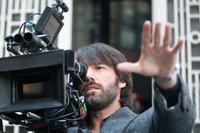 Director Ben Affleck on the set of