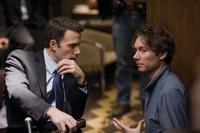 Ben Affleck and Director Kevin Macdonald on the set of