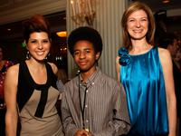 Marisa Tomei, Marcus Carl Franklin and Dawn Hudson at the IFC Nominee Reception.