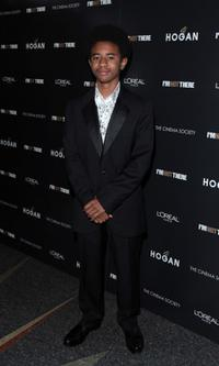 Marcus Carl Franklin at the New York premiere of