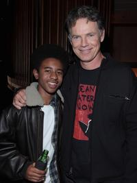 Marcus Carl Franklin and Bruce Greenwood at the after party of