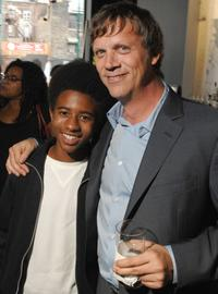 Marcus Carl Franklin and director Todd Haynes at the premiere of