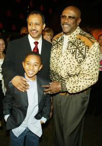 Ruben Santiago-Hudson, Marcus Carl Franklin and Louis Gossett Jr. at the screening of